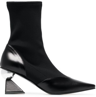 YUUL YIE Black Glam 70 Leather Boots