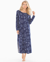 Soma Intimates Long Sleepshirt Snowy Navy
