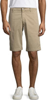 AG Adriano Goldschmied Griffin Flat-Front Shorts, Khaki
