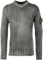 Stone Island Weathered ribbed jumper - men - Wool - S