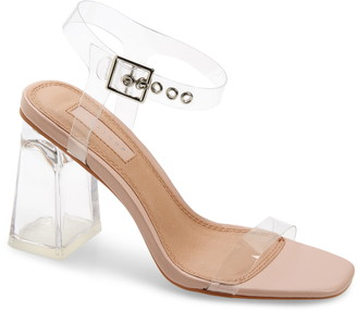 Topshop Sonia Clear Block Heel Sandal