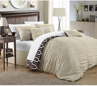 Chic Home Elissa 7 Pc King Reversible Duvet Cover Bedding