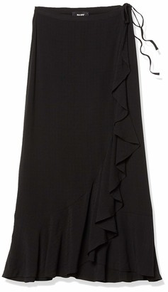 Paige Women's Midi wrap w/Ruffle Alamar Skirt
