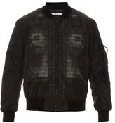 Givenchy Jesus-print nylon bomber jacket