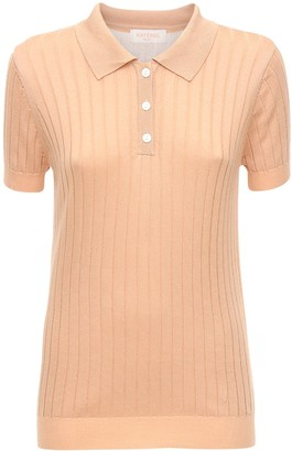MATÉRIEL Knit Viscose Blend Polo Shirt