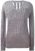 Marco De Vincenzo V-neck open knit jumper