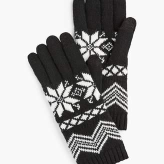 Talbots Snowflake Fair Isle Touch Gloves
