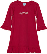 Princess Linens Red Bell-Sleeve Personalized Dress - Infant, Toddler & Girls