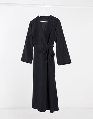 Monki wrap midi dress