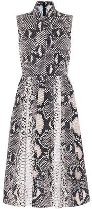 Prada Snake-print midi dress