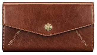 Maxwell Scott Bags Maxwell Scott Italian Leather Purse With Ball Clasp - Marcialla Tan