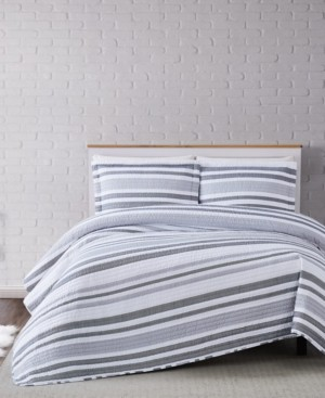 Truly Soft Curtis Stripe King Quilt Set