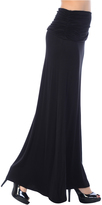 Bellino Black Ruched Maxi Skirt