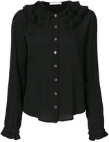 Peter Jensen buttoned detail frill shirt
