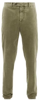 Brunello Cucinelli Slim-leg Cotton-corduroy Trousers - Green