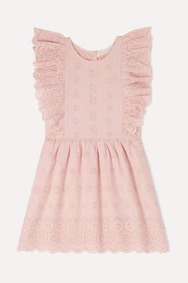 LoveShackFancy Kids Kids - Sylvie Ruffled Broderie Anglaise Cotton Dress - Pink
