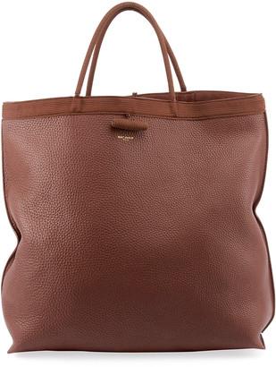 Saint Laurent Patti Large Leather Tote Bag