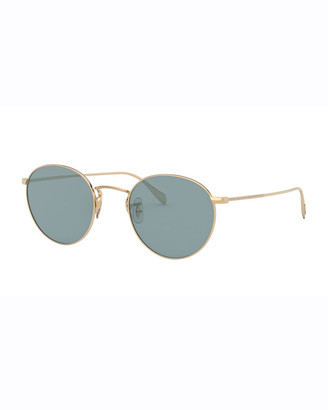 Oliver Peoples Men's Coleridge Round Metal Aviator Sunglasses