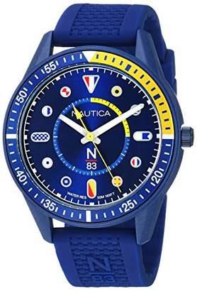 Nautica N83 Men's NAPSPS904 Surf Park Silicone Strap Watch