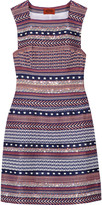 Missoni Embellished crochet-knit mini dress