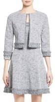 Oscar de la Renta Women's Crop Jacquard Jacket