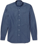 Caruso - Grandad-collar Cotton Shirt