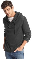 Gap Waffle knit henley hoodie