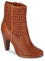 Frye Celeste Woven Leather Booties