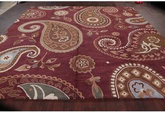 Isabelline Mitchell Large Square Oushak AgraOriental Brown Area Rug Isabelline