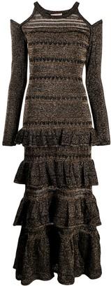 Twin-Set knitted lurex dress