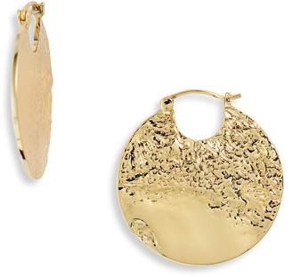 Gorjana Banks Huggie Disc Earrings