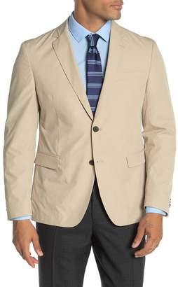 BOSS Paper Touch Light Beige Solid Two Button Notch Lapel Slim Fit Suit Separates Blazer