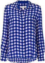 Diane von Furstenberg classic check shirt