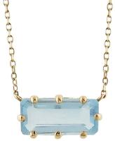 Jamie Joseph Emerald Cut Aquamarine Pendant Necklace