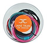 Jane Tran Set of 12 Double Strand Solid Color Pony Tail Holders