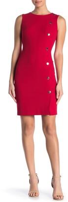 Modern American Designer Hardware Detail Sheath Dress