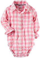 Carter's Checkered Button-Front Bodysuit