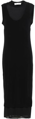 Proenza Schouler Pswl Layered Paneled Cotton And Tulle Midi Dress