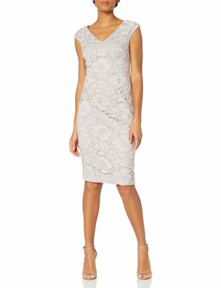 Maggy London Women's Rose Garden Lace Sheath with Faille Back