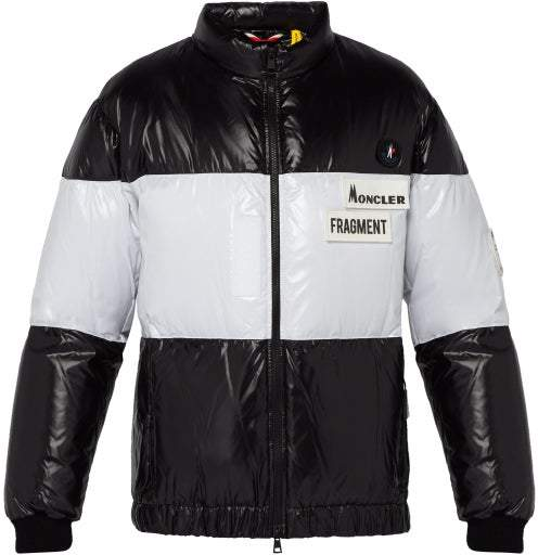 Moncler 7 Fragment - Striped Down Filled Jacket - Mens - Black
