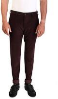 Prada Men's Cotton Corduroy Pants Burgundy