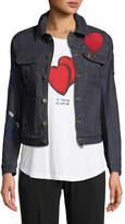 Zadig & Voltaire Kioky Brode Button-Down Embroidered Denim Jacket