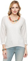 Juicy Couture Popcorn Stitch Loose Pullover