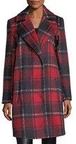 Cupcakes And Cashmere Allon Brushed Plaid Wool-Blend Coat