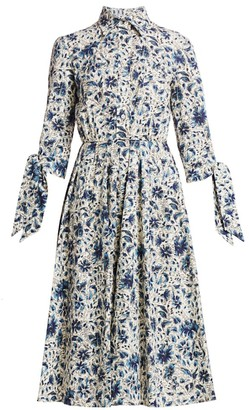 Prada Floral Flare Shirtdress