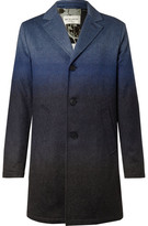 Etro Dégradé Mélange Wool-blend Coat - Blue