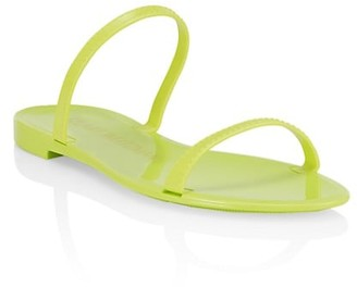 Stuart Weitzman Sawyer Neon Jelly Slides