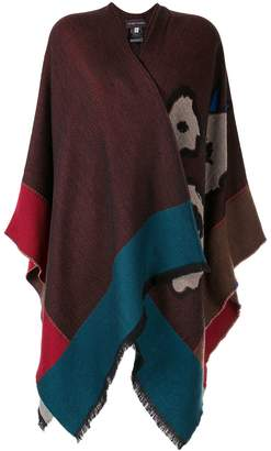 Talbot Runhof Tia colour block wrap cardigan