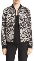 Helene Berman Women's Animal Print Bomber Jacket