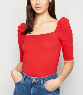 New Look Square Neck Puff Sleeve Top
